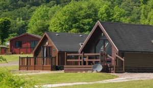 Luxury timber lodges are amongst the staying options at the park