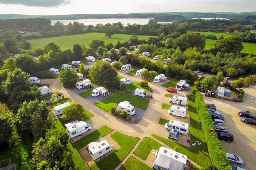 "High up in guests' opinions: visitors to Bath Chew Valley have voted it their favourite ""adults only"" touring park"