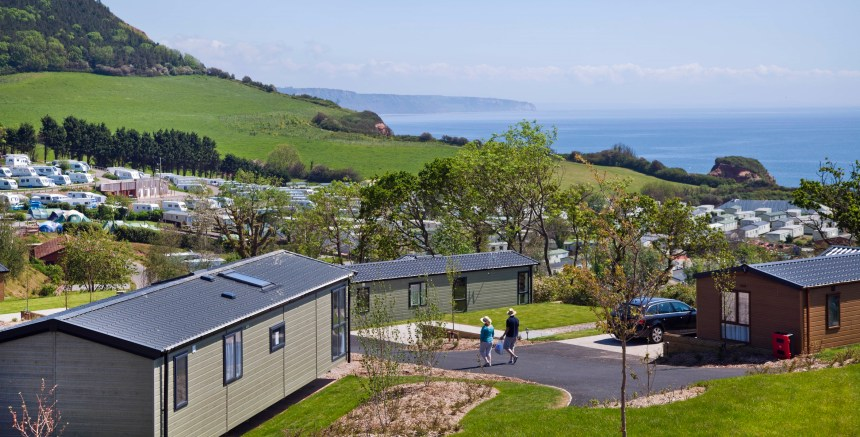 Holiday guests at Ladram Bay enjoy stunning coastal and countryside views from their first-class accommodation