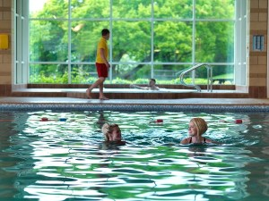 Guests at Silverdale park's leisure club enjoy a large heated pool