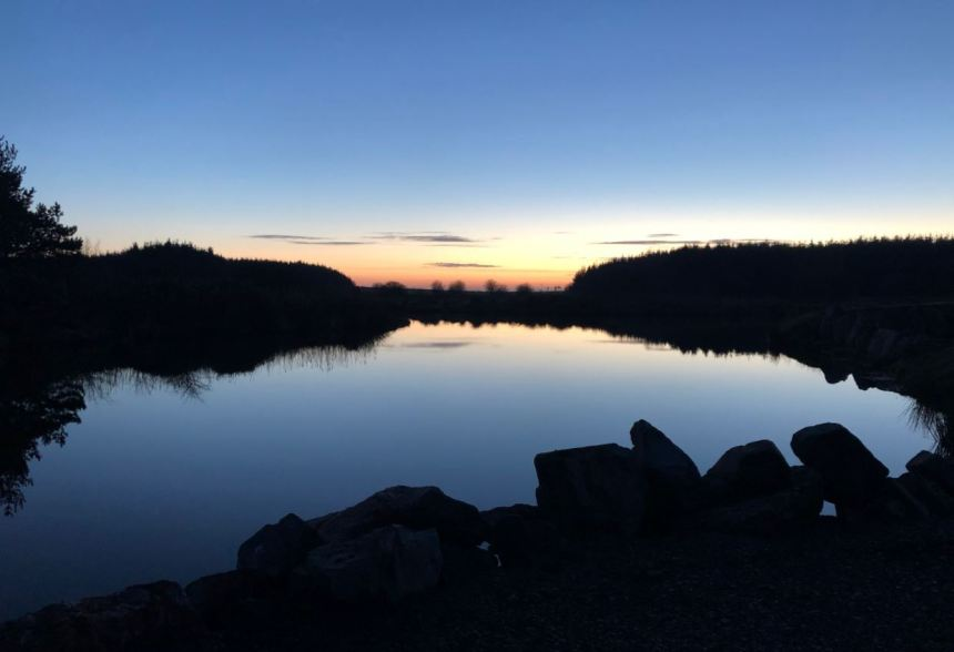 Night falls on one of Westlands' three picture-postcard fishing lakes which can challenge all level of skills