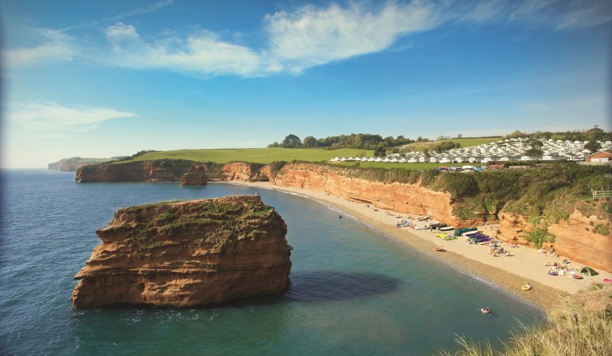 For 75 years, Ladram Bay – with its own private beach (above) – has been providing fun-filled family holidays