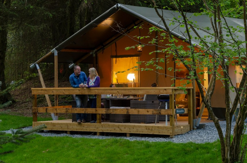 Hidden in a Lakeland forest glade, Skelwith Fold's safari tents are a perfect pitch for spotting the park's wildlife