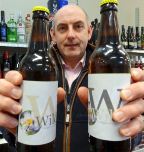 Henry Wild with the park's own micro-brewery ale