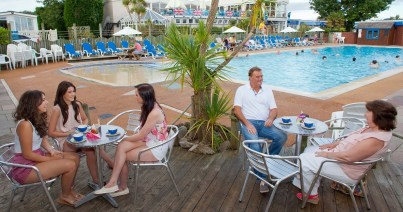 There are beautiful sandy beaches just a stroll away, but it's also tempting just to relax around the park's pool