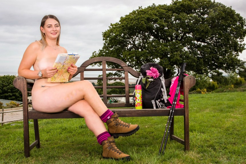 Sarah Mansfield (31) from Glossop, Derbyshire, is October's bright and breezy caravan calendar girl