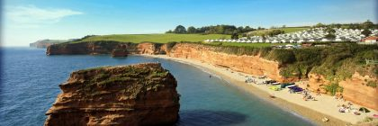 Wildlife winner Ladram Bay has its own private beach and far-reaching views across coast and countryside