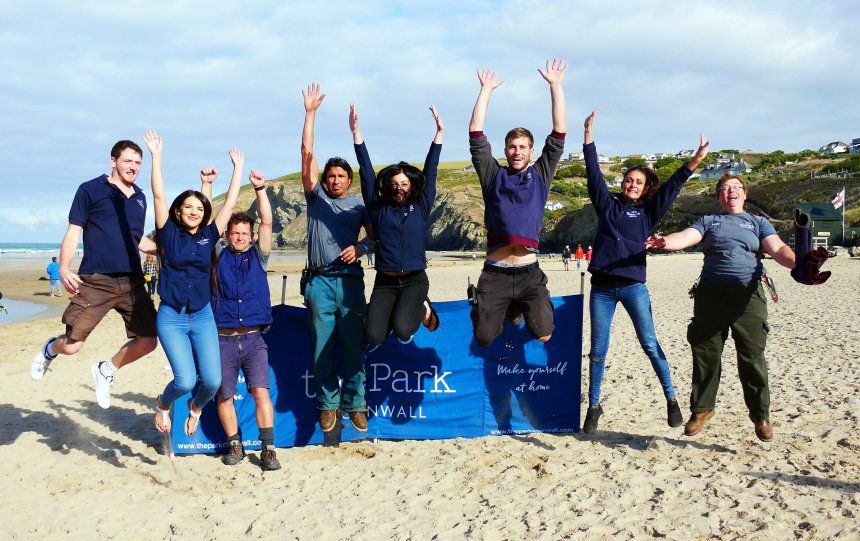 Team members from The Park in Mawgan Porth were praised for their commitment to the natural world
