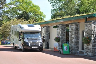 Another motorhome family checks in at Skelwith Fold