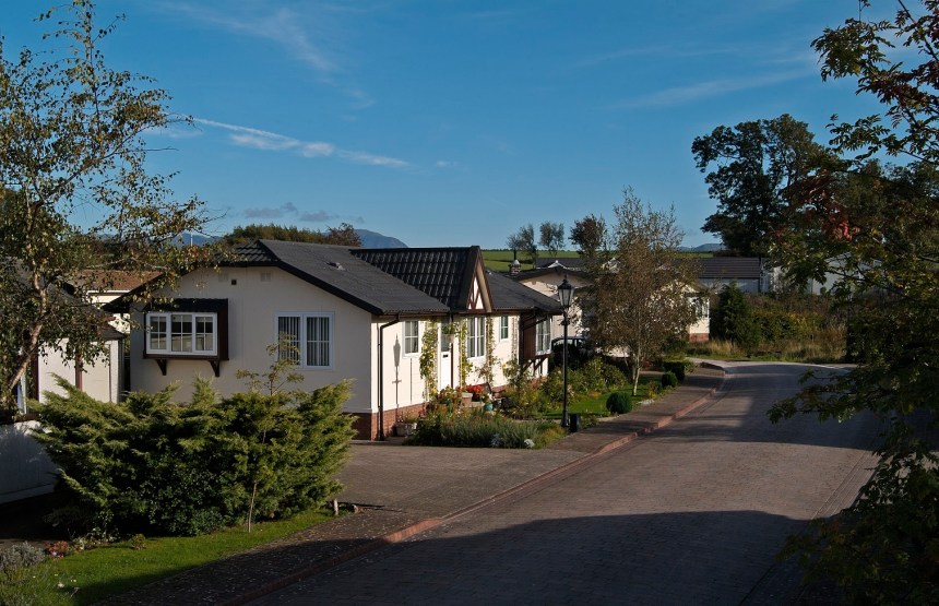 The park's 56 homes are set in tranquil Cumbria countryside with picturesque views to the Lake District fells