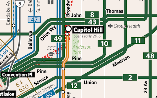 map detail in Capitol Hill showing overlapping service