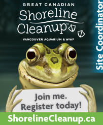 Great Canadian Shoreline Clean UP poster logo re: the Richard St. Barbe Baker Afforestation Area clean up (Saskatoon, SK, CA)