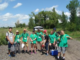 Richard St. Barbe Baker Afforestation Area, south west sector, in the City of Saskatoon, SK, CA at the Volunteer Community Clean UP 2016 CISV Youth Group Volunteers