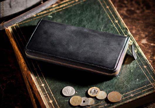 コードバンラウンドファスナー長財布