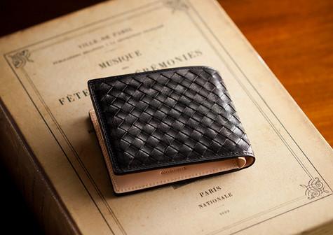 ボッテガ風二つ折り財布