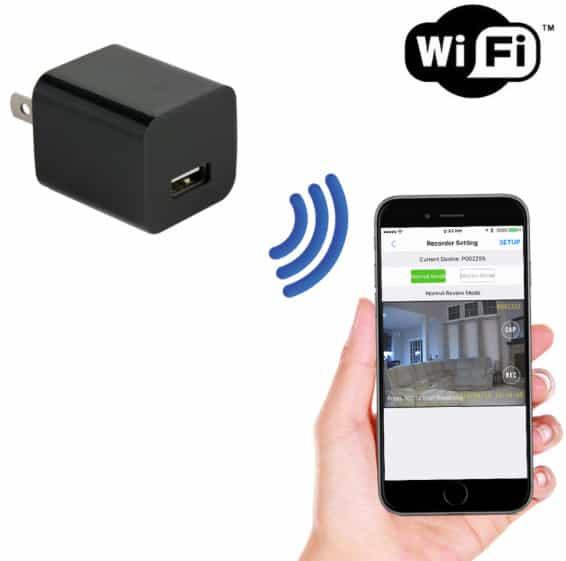 Camera mini không dây IP Wifi cục sạc điện thoại không dây