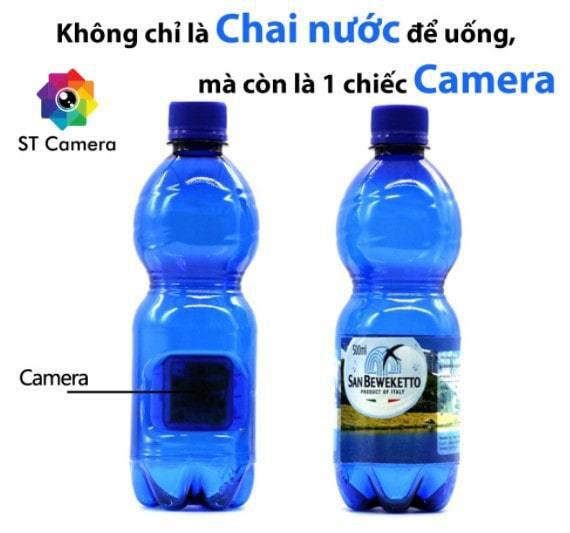 Camera ngụy trang bí mật chai nước