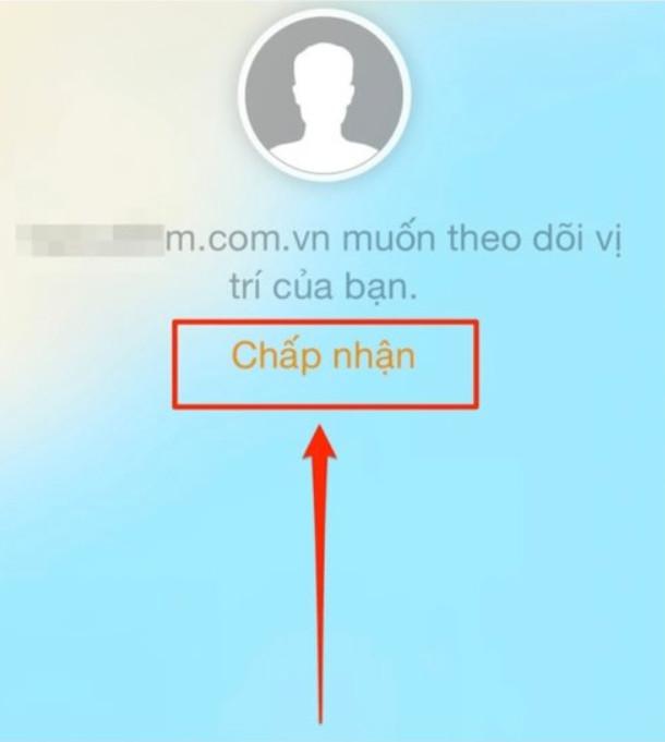 Chấp nhận theo dõi vị trí điện thoại