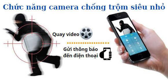 Chức năng camera chống trộm siêu nhỏ