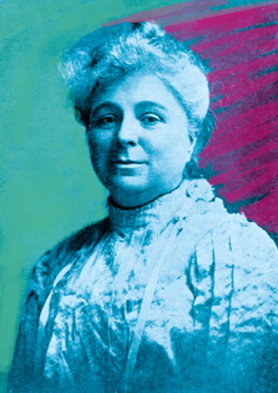 A colourized image of Lillian Phelps.