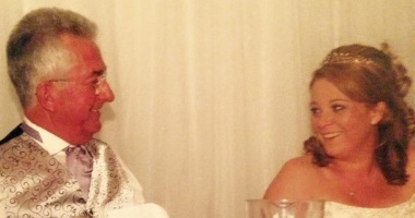 Lisa and her Dad on her wedding day