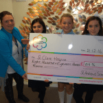 St Andrews Primary present a cheque