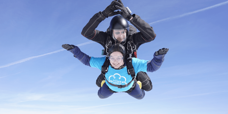 Tandem skydive for St Clare