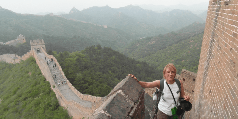 Great wall of china trek by ST Clare supporter