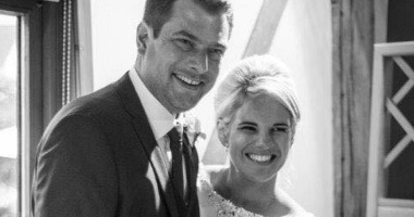 Sophie and Dave on their wedding day