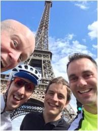 Team at Eiffel Tower