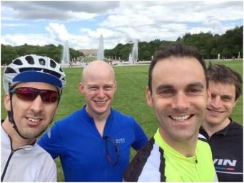 Team at Palace of Versailles