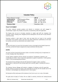 Volunteer Policy