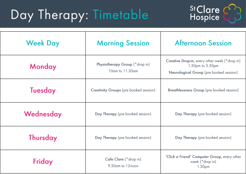 Day Therapy Timetable