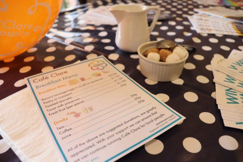 Café Clare Menu