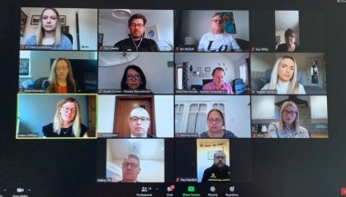 A Networking with Heart meeting taking place virtually during 2020