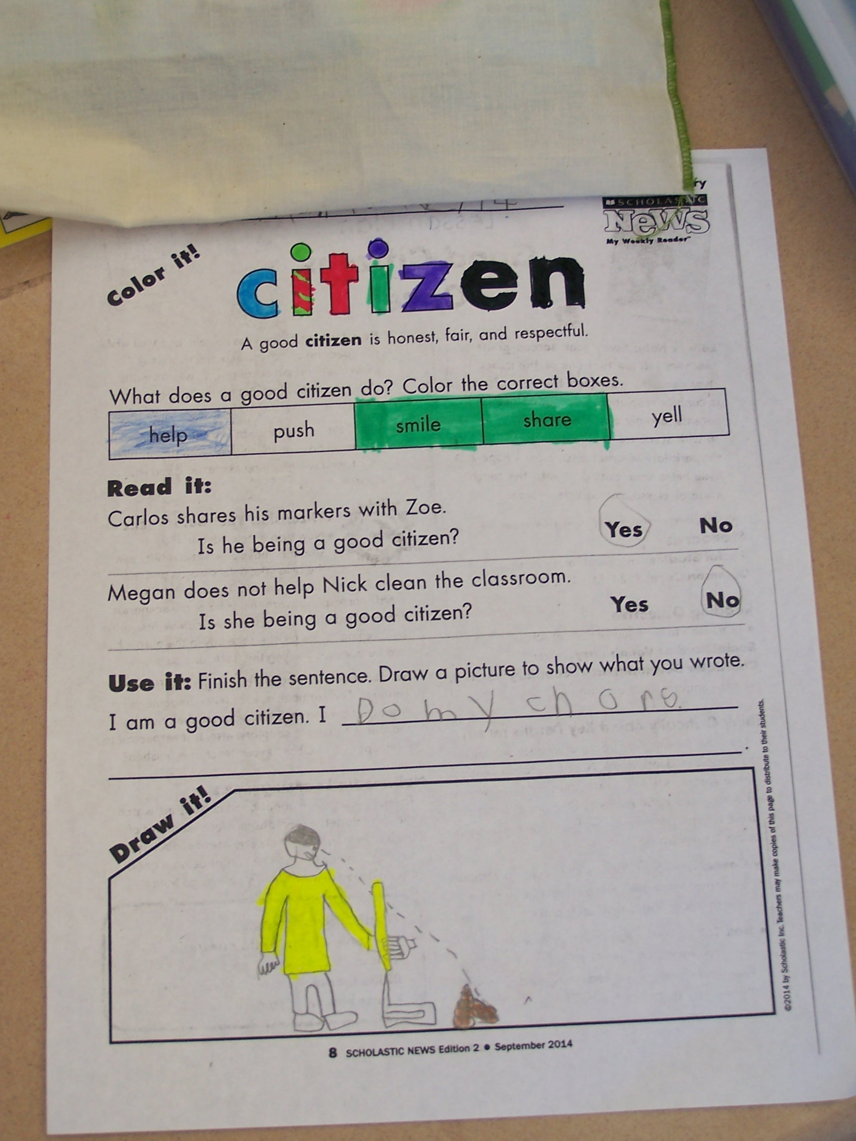 Being A Good Citizen In 2nd Grade