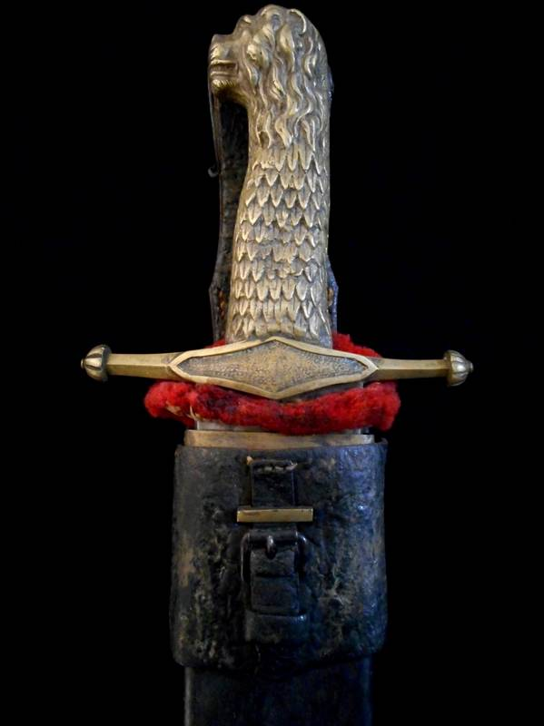 Antique Lion Head Sword