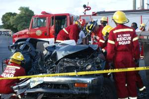 St. Croix Rescue Working on a Vehicle Accident in 2014