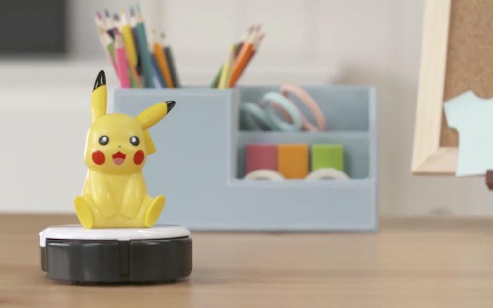 """皮卡丘桌上型掃地機器人,除了可以清潔桌面還能給你滿滿的""""電力""""!"""