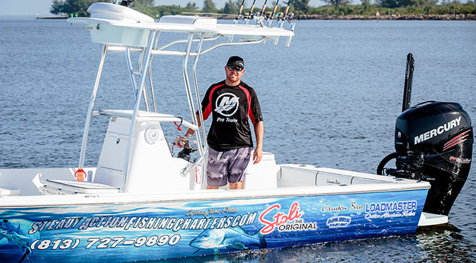 Captain Jason Prieto, owner of Steady Action Fishing Charters, Tampa, FL