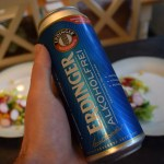 Close up of can of Erdinger Alcoholfrei