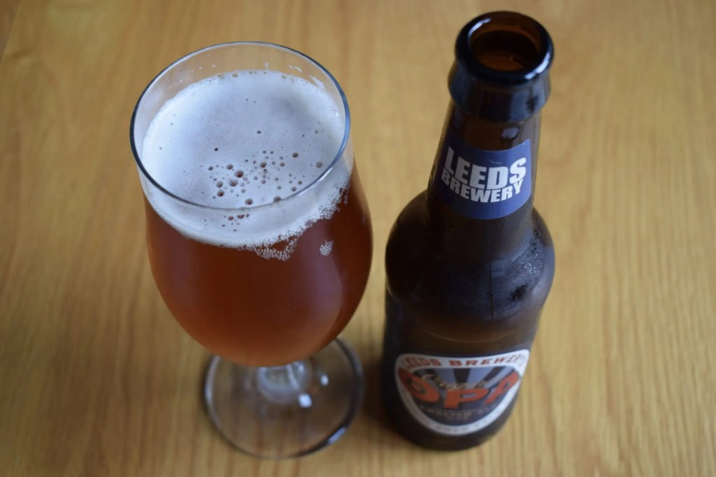 Leeds Brewery 0PA bottle and glass