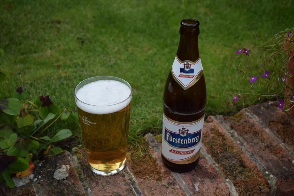 Furstenberg bottle and glass
