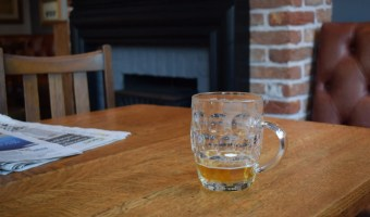 Alcohol-free beer in a pub