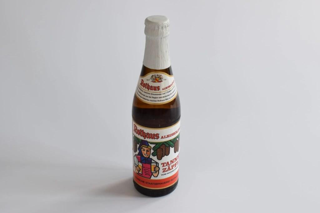 Bottle of Rothaus Non-Alcoholic Tannenzäpfle (0.4%) low-alcohol pilsner