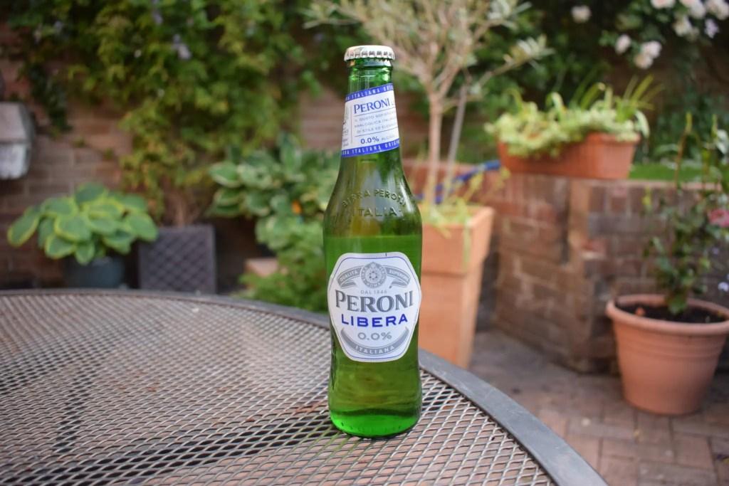 Bottle of Peroni Libera non-alcoholic lager bottle