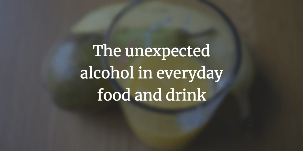 Alcohol in food and drink