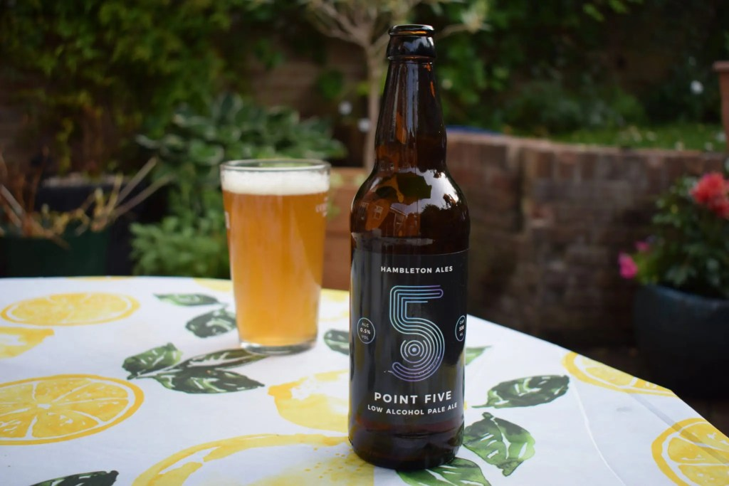 Hambleton Ales Point 5 bottle and glass