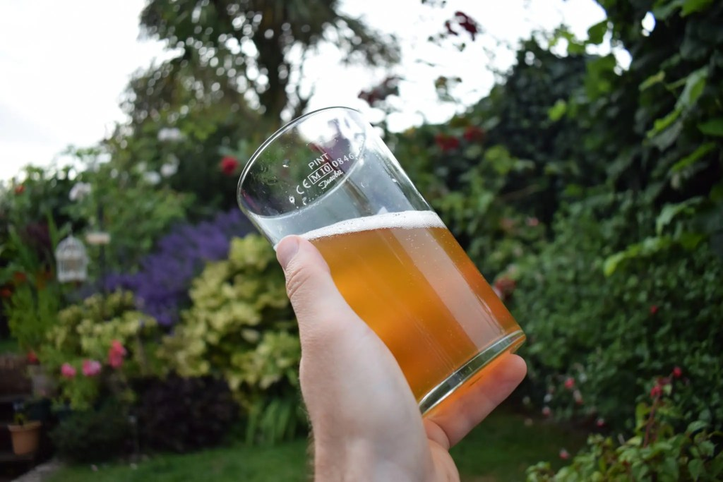 Hambleton Brewery Point 5 pale ale in glass