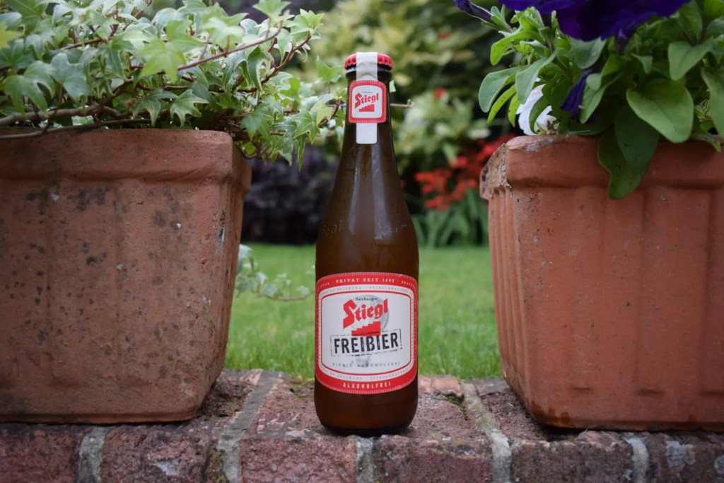 Stiegl Freibier low-alcohol lager bottle